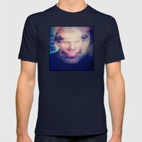 SHINING 1 Mens Fitted Tee Navy SMALL