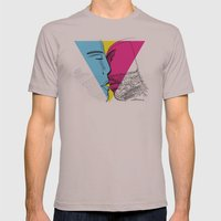 Primary Kiss Mens Fitted Tee Cinder SMALL