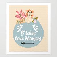 NSFW - B*tches Love Flow… Art Print