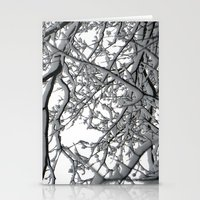 Snow Covered Branches Stationery Cards