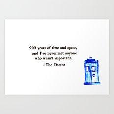 Doctor Who Print Art Print