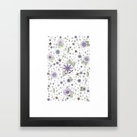 Violetas Framed Art Print