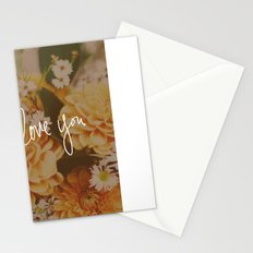 Love You x Orange Floral Stationery Cards