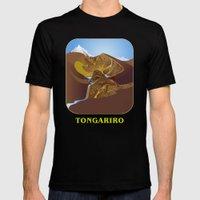 Magic Water - Tongariro National Park Mens Fitted Tee Black SMALL