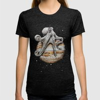 Celestial Cephalopod Womens Fitted Tee Tri-Black SMALL