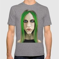 Celebrity Sunday ~ Avril… Mens Fitted Tee Tri-Grey SMALL
