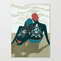 Love You / Love Me - Us and Them Canvas Print