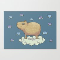 Capy In The Sky With Dia… Canvas Print