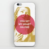 You Set My Heart On Fire iPhone & iPod Skin