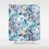 Local Color Blue Mint Shower Curtain