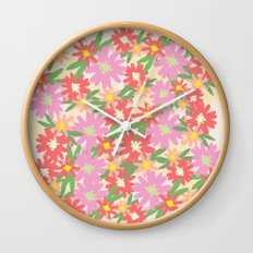 floral party Wall Clock