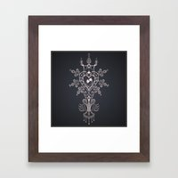 Heart Rules Framed Art Print
