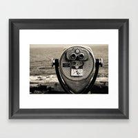 Beach Binoculars Framed Art Print