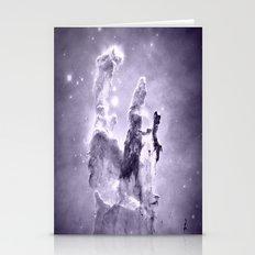 nEbulA Lavender Gray Stationery Cards