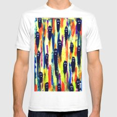 paint-pattern 1 (the chaps) SMALL White Mens Fitted Tee