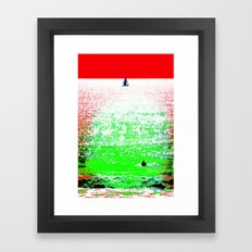 Sailboat and Swimmer (2a) Framed Art Print
