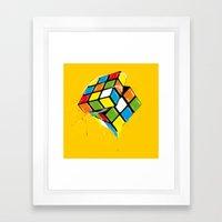the Cube Framed Art Print