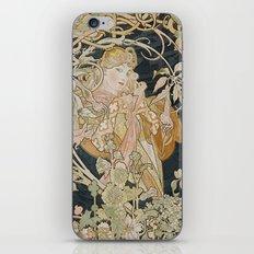 1898 - 1900 Femme a Marguerite by Alphonse Mucha iPhone & iPod Skin