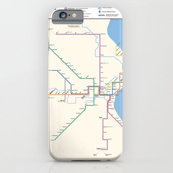 Milwaukee Transit System Map iPhone & iPod Case