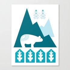 Heart the Polar Bear Canvas Print