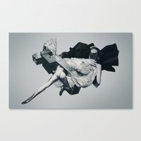 the mist and her black hair Canvas Print