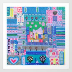 Labyrinth Of Love Art Print