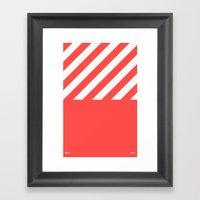Infrared Lines / White Framed Art Print