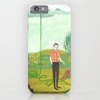 iPhone & iPod Case featuring Using Rain by Genevieve Simms