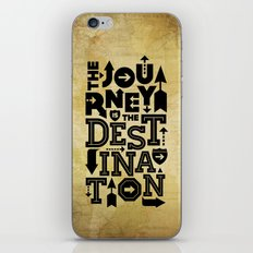 The Journey Is The Destination, Gold Map iPhone & iPod Skin