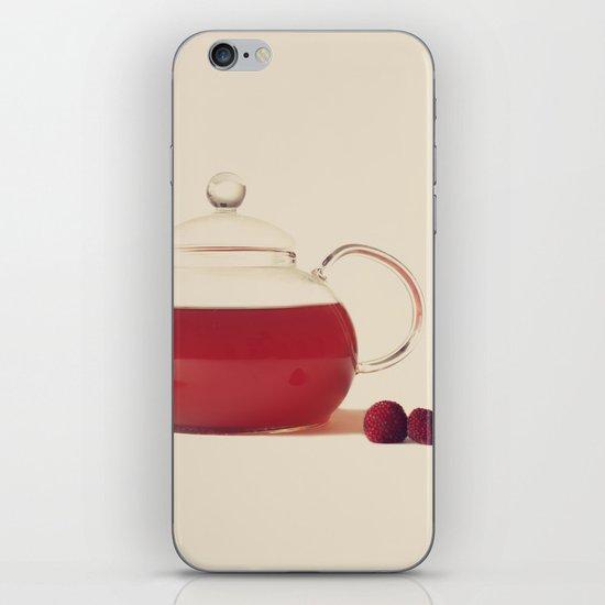 Raspberry Tea (Retro and Vintage Still Life Photography) iPhone & iPod Skin
