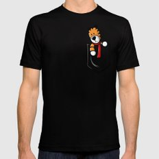 Pocket Pal Black Mens Fitted Tee SMALL