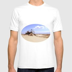 dust in the wind SMALL White Mens Fitted Tee