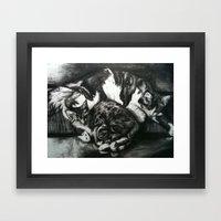Comatose Framed Art Print