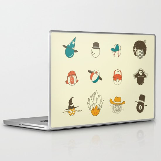 Weird balls with weird hats Laptop & iPad Skin