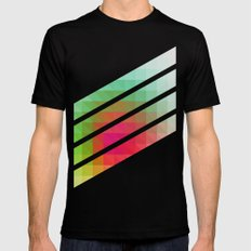 Triangular studies 02. Mens Fitted Tee Black SMALL