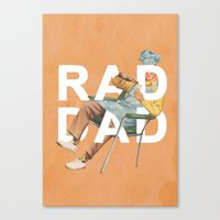 Rad Dad Canvas Print