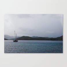Moored Sailboat  Canvas Print