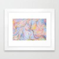 Wind I - Colored Pencil Framed Art Print