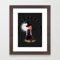 Witch - Vector Framed Art Print