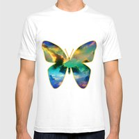 CLOUD BUTTERFLY Mens Fitted Tee White SMALL