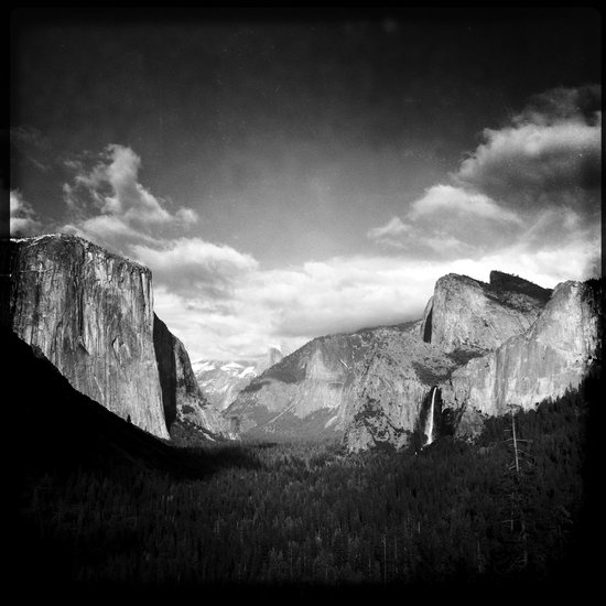 The View From Tunnel View Art Print