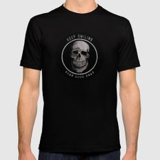Keep Smiling when your dead II SMALL Mens Fitted Tee Black