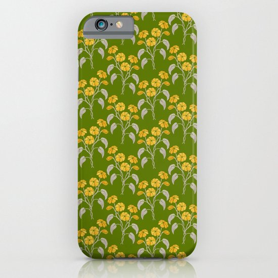 Flowers Green Pattern iPhone & iPod Case
