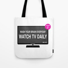 Watch TV daily Tote Bag