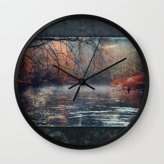between fall & winter Wall Clock