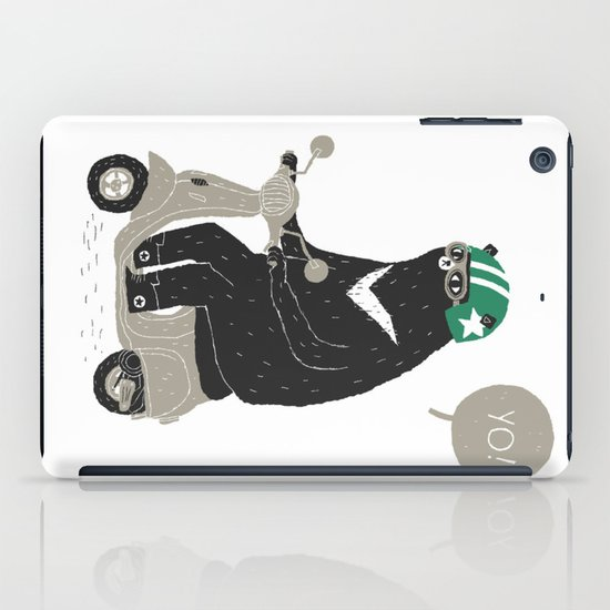 scooter bear iPad Case