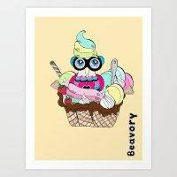Ice cream yum! Art Print