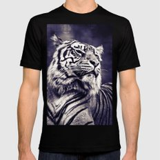 Sumartran Tiger in Two Tone Black SMALL Mens Fitted Tee