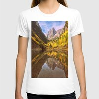 mountains T-shirts featuring mountains. Mirror Lake by 2sweet4words Designs