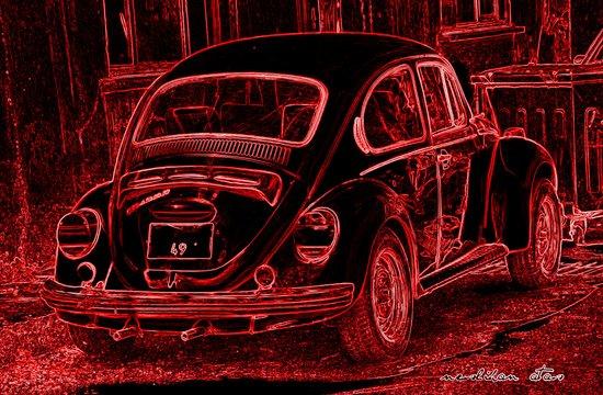 "VW BEETLE ""49"" Canvas Print"